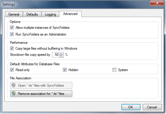 SyncFolders settings 2...